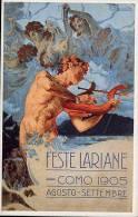REPLICA Di Cartolina Pubblicitaria FESTE LARIANE, COMO, Agosto Settembre Di T. Borsato 1905 - OTTIMA F18 - Advertising