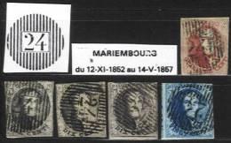 Belgique - Médaillons  -  D24 MARIEMBOURG (timbres Second Choix, D´attente Ou D´étude) - Balkenstempel: Ausladungen