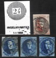 Belgique - Médaillons  -  D24 INGELMUNSTER (timbres Second Choix, D´attente Ou D´étude) - Balkenstempel: Ausladungen