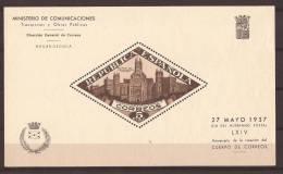 ESBE17-L20940THC.Spain.Es Pagne.BENEFICENCIA.PALACIO   DE COMUNICACIONES  1937.(Ed  17**).sin Charnela. - Hojas Conmemorativas