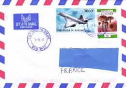 Z2] Belle Nice Lettre Burundi Avion Supersonique Supersonic Plane Concorde - Concorde