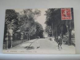 95 ENGHEIN LES BAINS - L'AVENUE DE CEINTURE - 1919 - AUTRE VUE DIFFERENTE - ANIMATION (EDITIONS LL. PARIS N° 33) - Enghien Les Bains