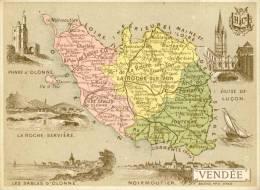 Chromos Carte Département De La Vendée Scan Du Dos - Non Classés