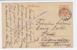 GS Karte Aus VORWEIDEN 15.9.16 Zensur Aachen - Briefe U. Dokumente