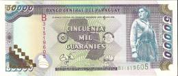 BILLETE DE PARAGUAY DE 50000 GUARANIES DEL AÑO 1998 (BANKNOTE) SIN CIRCULAR-UNCIRCULATED - Paraguay