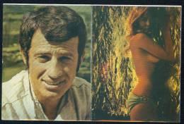 Elga Andersen And Jean-Paul Belmondo --- 2 Cik Postcard Connected - Attori