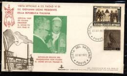 Visita Ufficiale A S.S. Paolo VI Di  S.E. Giovanni Leone Presidente Della Repubblica Italiana - Italie