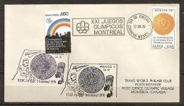 Mexique Mexico 1976 N° PA 408 + 410 O Avion, Concorde, Piece De Monnaie, Arc-en-ciel, JO, Montreal, Aztèque, Sport, Maya - Mexico