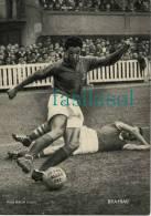 Photo Miroir Sprint Football : Saïd  BRAHIMI - Toulouse FC / Sète (N & B Format 16,5 X 23,5cm) - Trading Cards