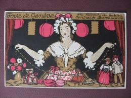 CPA SUISSE Foire De GENEVE En Faveur Du Bureau Central De Bienfaisance1920 DESSIN ILLUSTRATEUR FEMME POUPEES RARE ! - GE Genf