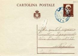 1945  CARTOLINA CON ANNULLO CALVIZZANO NAPOLI - 4. 1944-45 Repubblica Sociale