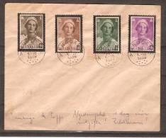 RO@ : Nr 411 - 414 op Brief met stempel ' KNOCKE '  afgestempeld dag voor uitgifte (30-IX-1936)!! ' ZELDZAAM !! (a865)