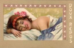 ART NOUVEAU - Femme - Doux Repos .   (56216) - 1900-1949