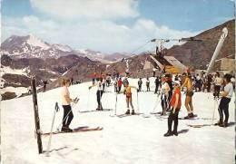 Col De L'iseran-ski D'été-arrivée Du Télébenne Sur Le Glacier De Pissalias-cpsm - Autres Communes