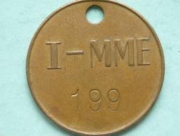I - MME Industrie - Mercantile Marine Engineering ( GeelKoperkleur 38 Mm. - 14 Gr. / Uncleaned - Details Zie Foto´s ) ! - Professionals / Firms