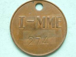 I - MME 274 (?) ( GeelKoperkleur 38 Mm. - 14 Gr. / Uncleaned - Details Zie Foto´s ) ! - Belgique