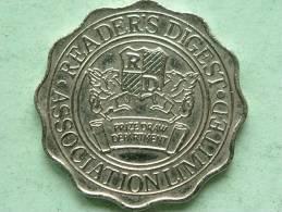 READER'S DIGEST  ASSOCIATION LIMITED ( Zilverkleur 8 Gr.- 28 Mm. / Uncleaned - Details Zie Foto´s ) ! - Jetons & Médailles