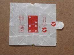 Emballage De Sucre Ancien ST LOUIS GALE SUCRIERE Série LES DOMINOS 4/2 Rouge - Sugars