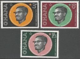 Ghana. 1962 First Death Anniv. Of Lumumba. MH Complete Set - Ghana (1957-...)