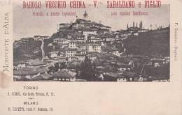 MONFORTE D'ALBA-PUBBLICITA' ADVERTISING BAROLO VECCHIO CHINA-V. ZABALDANO E FIGLIO-TORINO-MILANO- AUTENTIQUE D´EPOCA100% - Pubblicitari