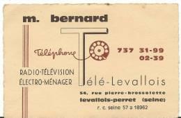 Vieux  Papiers : Carte Radio  Télévision A  LEVALLOIS - PERRET  Seine ( 12 Par 8 Cm) - Cartes