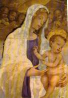 PRATO Galleria Di Palazzo Pretorio Filippino Lippi Madonna Del Mercatale ( Particulare) , Vierge Enfant (detail) - Prato