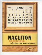 """Mars 1957 Petit Calendrier De Bureau  """"Nacliton"""" Laboratoire Labaz / >> Santé,médecine - Calendriers"""