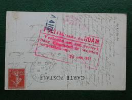 Zichtkaart Parijs Met Franse PZ (zaaister) 10c. Verstuurd Naar Den Haag  In 1916 Met Stempel: POLITIE-ROTTERDAM - 1891-1948 (Wilhelmine)