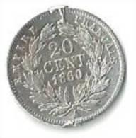 France - 20 Cts 1860 Napoléon III - E. 20 Céntimos