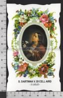 XsaCal185 S. Santa DARTINA VERGINE DI CELL AIRD IRLANDA WICKLOW TARTINA Santino Holy Card - Religion & Esotérisme