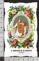 XsaCal190 S. San ABBONDIO MARTIRE DI CORDOVA Santino Holy Card - Religione & Esoterismo