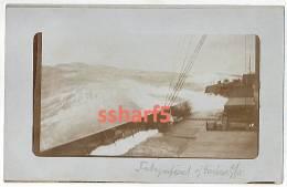 RPPC From Deck Of Steamer HANLEY On The Atlantic Toward Baltimore WWI (torpedoed 1917) Handwritten Text In Danish - Steamers