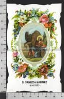 XsaCal221 S. San ORMIZDA MARTIRE Santino Holy Card - Religione & Esoterismo