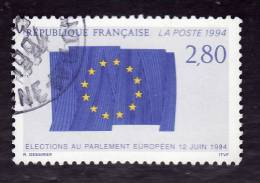 FRANCE  1994  -  Y&T 2860  -   Elections Au Parlement Européen   Oblitéré - Gebraucht