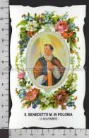 XsaCal317 S. San BENEDETTO MARTIRE IN POLONIA BENEVENTO Santino Holy Card - Religión & Esoterismo