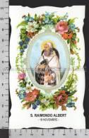 XsaCal323 S. San RAIMONDO ALBERT Santino Holy Card - Religión & Esoterismo