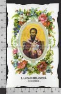 XsaCal345 S. San LUCA DI MELICUCCA REGGIO CALABRIA Santino Holy Card - Godsdienst & Esoterisme
