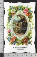 XsaCal348 S. San GIUDOCO EREMITA BRETAGNA AMIENS PICCARDIA Santino Holy Card - Religión & Esoterismo