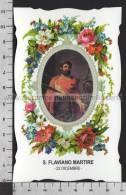 XsaCal357 S. San FLAVIANO MARTIRE MONTEFIASCONE VITERBO MONTEDORO Santino Holy Card - Religion & Esotérisme
