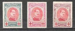 Belgique - 1915 - COB 132/4 - Neuf * - 1915-1920 Albert I