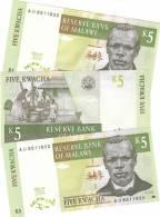 Malawi 5 Kwacha 1997 - UNC - Malawi