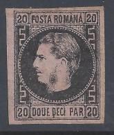 ROUMANIE - 1866-67 -  N° 16 - (I) - (X) - B - - 1858-1880 Moldavia & Principado