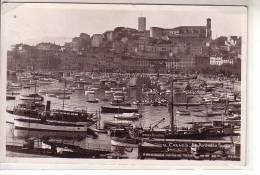 06 CANNES - Le Port Et Le Suquet - Animé Bateaux à Vapeur Voiliers Et Barques Au Mouillage - éditions FRANK N° 16 - Cannes