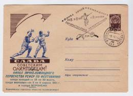 USSR 1961 FENCING OLYMPIC GAMES COVER - Esgrima