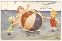 BONJOUR DE LA PANNE  --  Cp à Système - De Panne