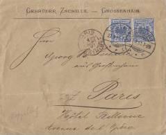 DR Brief Mef Minr.2x 48 Grossenhain 27.9.97 Gel. Nach Frankreich - Deutschland