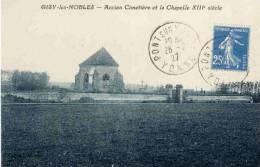 CPA 89 GISY LES NOBLES ANCIEN CIMETIERE ET LA CHAPELLE XIII SIECLE - France