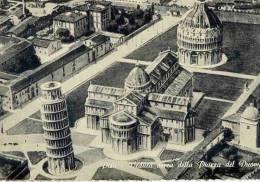 CPSM ITALIE PISA VEDUTA AEREA DELLA PIAZZA DEL DUOSMO - Italie