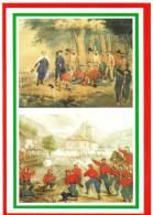 [DC1642]  CARTOLINEA - 150° UNITA´ D´ITALIA - 1862 GARIBALDI FERITO ASPROMONTE - 1866 LA PRESA DI PONTE CAFFARO - Storia