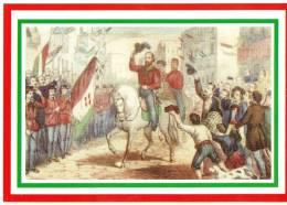 [DC1641]  CARTOLINEA - 150° UNITA´ D´ITALIA - I MILLE - ENTRATA DI GARIBALDI A NAPOLI 7 SETTEMBRE 1860 - Storia